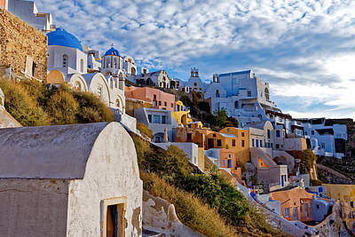 Sunrise Over Oia Art Print