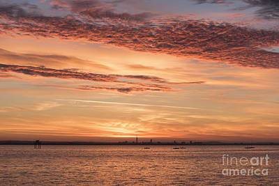 Photograph - Golden Sunrise Over Portsmouth  by Clayton Bastiani