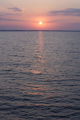 Photograph - Sunrise Over The Sea Horizon by Newnow Photography By Vera Cepic