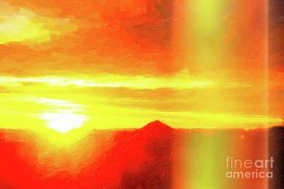 Digital Art - Sunrise Paint by Donna L Munro