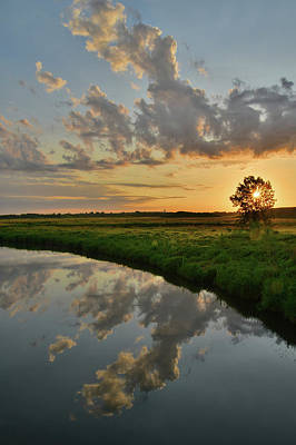 Photograph - Sunrise Reflection In Glacial Park by Ray Mathis