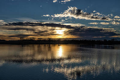 Photograph - Sunrise Reflections On The Great Plains by Tony Hake