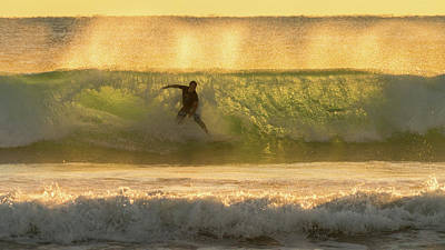 Photograph - Sunrise Surfer Delray Beach Florida by Lawrence S Richardson Jr
