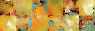 Painting - Sunset Abstract Tiles. Modern Mosaic Tile Art Painting by Mark Lawrence