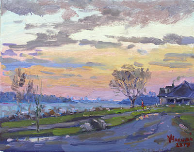 Painting - Sunset After The Rain  by Ylli Haruni