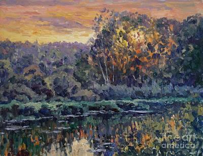 Sunset Art Print by Andrey Soldatenko
