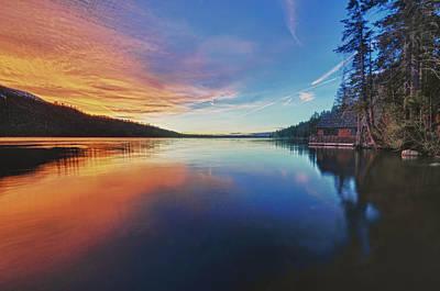 Sunset At Fallen Leaf Lake Art Print by Jacek Joniec