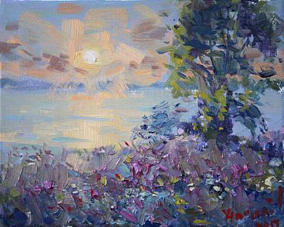 Sunset At Gratwick Waterfront Park Art Print