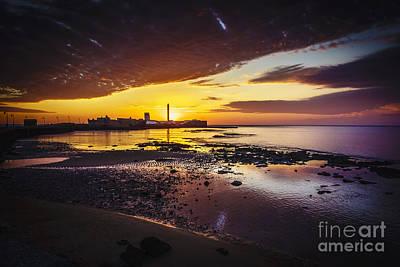 Photograph - Sunset At La Caleta Beach Cadiz Spain by Pablo Avanzini