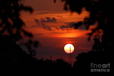 Sunset At Lake Hefner Art Print