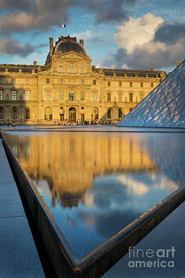 Photograph - Sunset At Musee Du Louvre by Brian Jannsen
