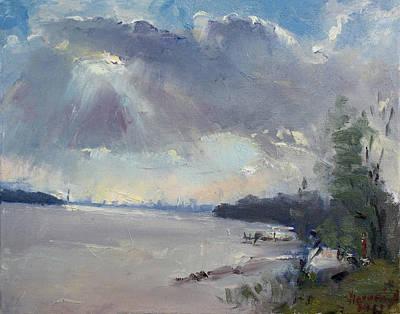 Sunset At Niagara River Art Print