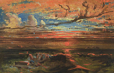 Sunset At Sea After A Storm Art Print by Francis Danby