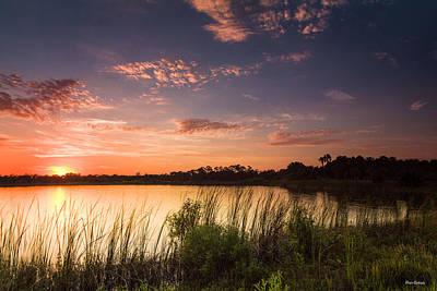Photograph - Sunset At The Lake by Fran Gallogly
