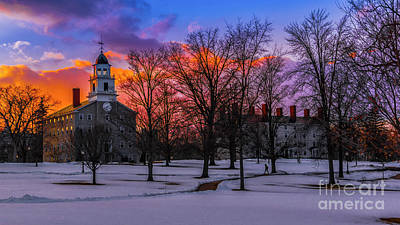Photograph - Sunset At The Middlebury College by Scenic Vermont Photography