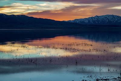 Photograph - Sunset At Utah Lake by K Bradley Washburn