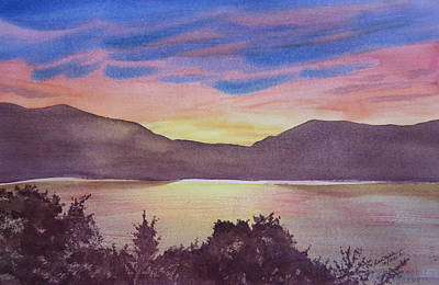 Sunset At Woodhead Campground Art Print