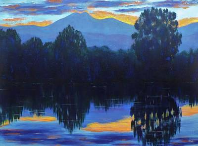 Painting - Sunset Blue by Margaret Bobb