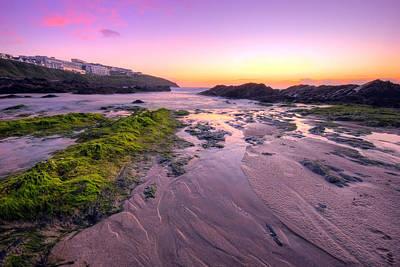 Sunset By The Ocean Art Print by Jaroslaw Grudzinski