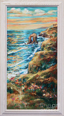 Painting - Sunset Cliffs by Linda Olsen