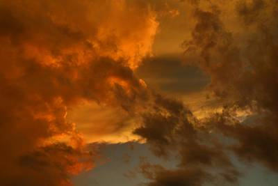 Photograph - Sunset Cumulus by Kathryn Meyer