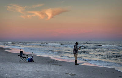 Photograph - Sunset Fisherman by Phil Mancuso