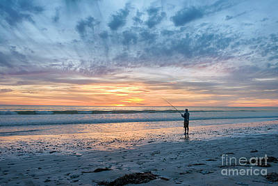 Photograph - Sunset Fishing by Ray Warren