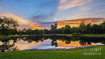 Photograph - Sunset Florida  by Roman Gomez