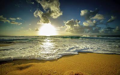 Photograph - Sunset Foam by Cameron Howard