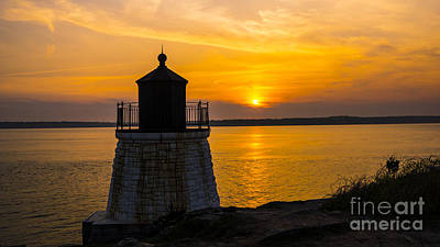 Katharine Hepburn - Sunset from Castle Hill Lighthouse. by New England Photography