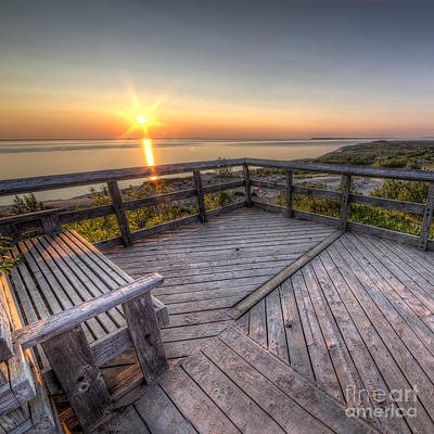 Sunset From The Deck Art Print