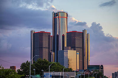 Photograph - Sunset In Detroit by Nicholas Grunas