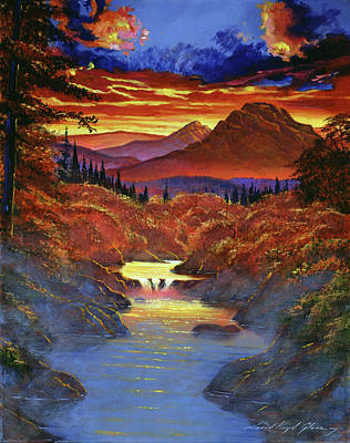 Painting - Sunset In The Valley by David Lloyd Glover