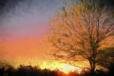 Digital Art - Sunset by John Freidenberg
