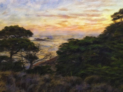 Mixed Media - Sunset by Jonathan Nguyen
