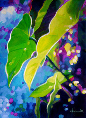 Painting - Sunset Leaves by Angela Treat Lyon