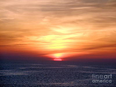 Photograph - Sunset Mediterranean Sea by John Potts