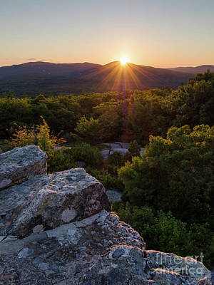 Photograph - Sunset, Mt. Battie, Camden, Maine  -33788-33791 by John Bald