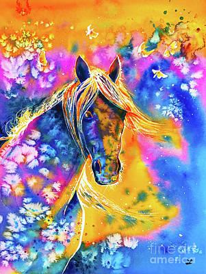 Painting - Sunset Mustang by Zaira Dzhaubaeva