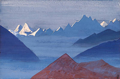 Blizzard Painting - Sunset by Nicholas Roerich