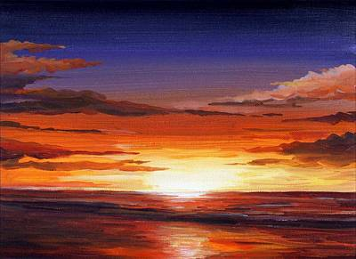Painting - Sunset Ocean by Samiran Sarkar