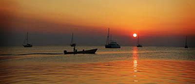Photograph - Sunset On Caye Caulker by Lee Vanderwalker