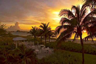 Photograph - Sunset On Grace Bay by Stephen Anderson