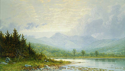 Mountain Valley Painting - Sunset On Mount Chocorua - New Hampshire by William Trost Richards