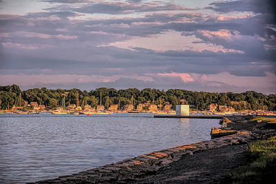 Photograph - Sunset On Salem Harbor by Jeff Folger