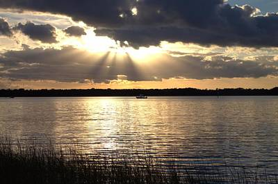Sunset On The Cape Fear River Art Print