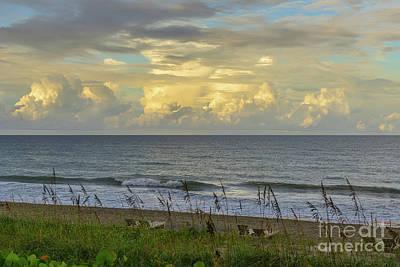Photograph - Sunset On The Ocean  by Olga Hamilton