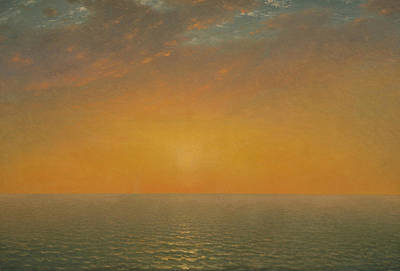 Painting - Sunset On The Sea by John Frederick Kensett
