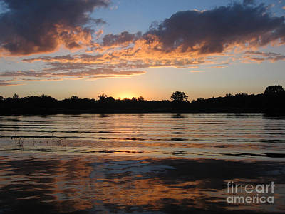 Photograph - Sunset On The Thornapple River by Lisa Dionne