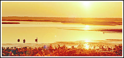 Photograph - Sunset Over A Salt Marsh Brigantine New Jersy by A Gurmankin
